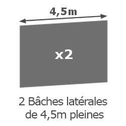 Inclus dans votre colis : Notre Barnum ACIER SEMI PRO de 3x4,5m est livré avec ses 4 parois latérales (offert).