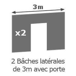 Inclus dans votre colis : Notre Barnum ALU PRO 55 de 3m x 6m  est livré avec ses 4 parois latérales.