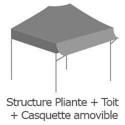 Inclus dans votre colis : Notre Barnum ACIER SEMI PRO de 2x3m est livré avec sa structure pliante, sa bâche de toit avec casquette amovible