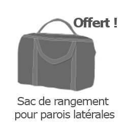 Inclus dans votre colis : Notre Barnum ALU PRO 55 de 5m x 5m  est livré avec son sac de rangement pour parois latérales offert
