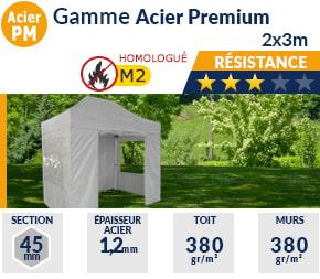 Barnums pliants de 2m x 3m de la Gamme Acier Premium