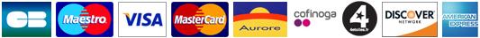 Cartes bancaires acceptées par Paypal sur le site france-barnums.com